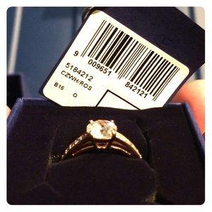 Swarovski attract round ring rose gold plated